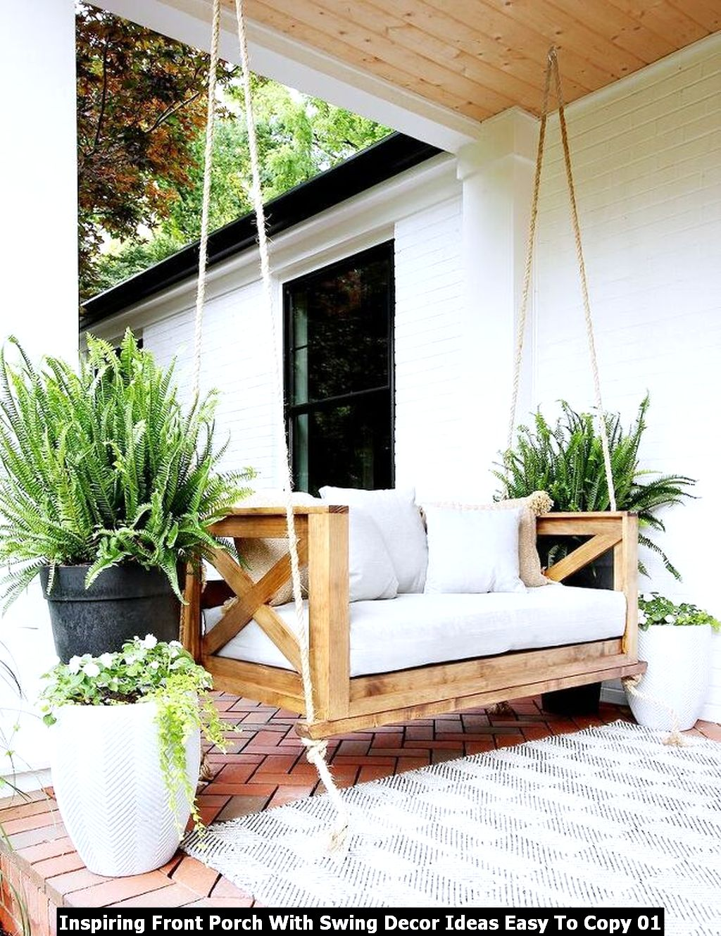Inspiring Front Porch With Swing Decor Ideas Easy To Copy 01