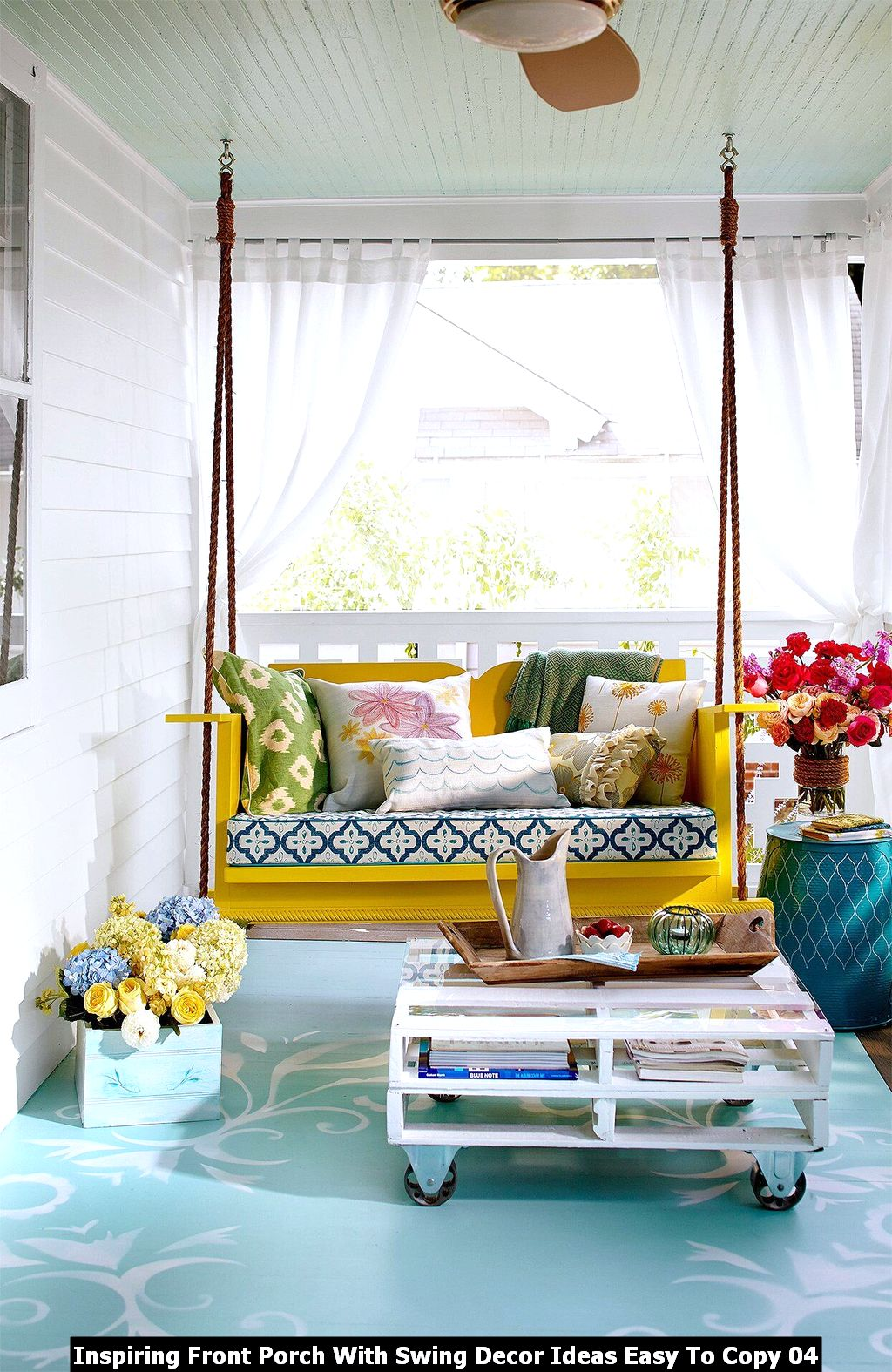 Inspiring Front Porch With Swing Decor Ideas Easy To Copy 04