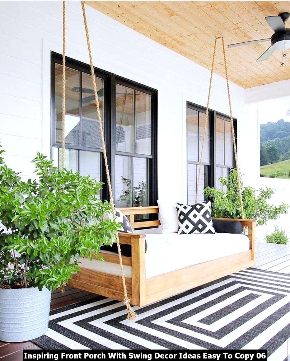 Inspiring Front Porch With Swing Decor Ideas Easy To Copy 06