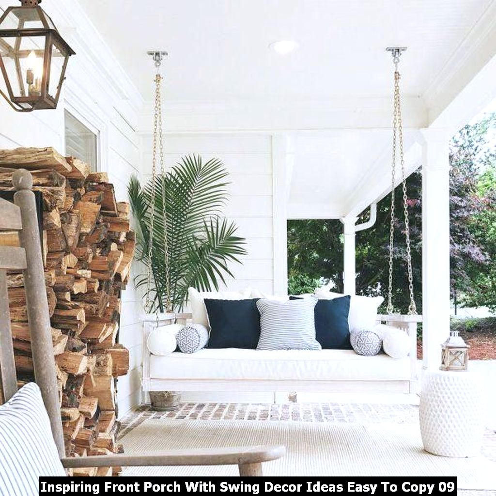 Inspiring Front Porch With Swing Decor Ideas Easy To Copy 09