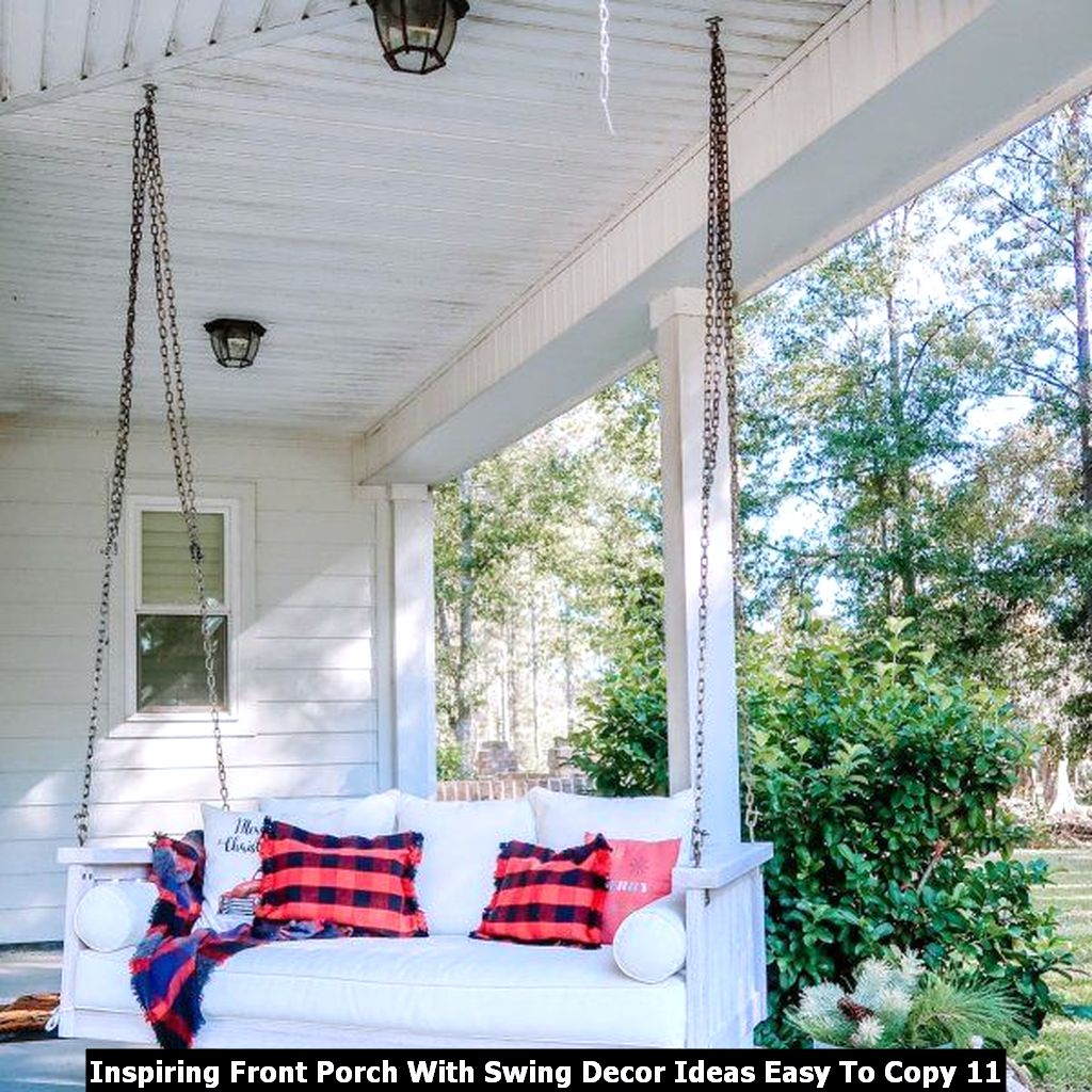 Inspiring Front Porch With Swing Decor Ideas Easy To Copy 11
