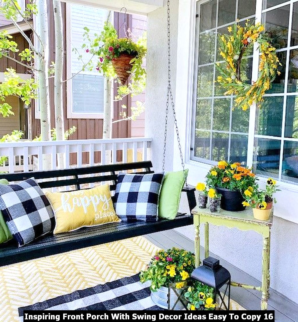Inspiring Front Porch With Swing Decor Ideas Easy To Copy 16