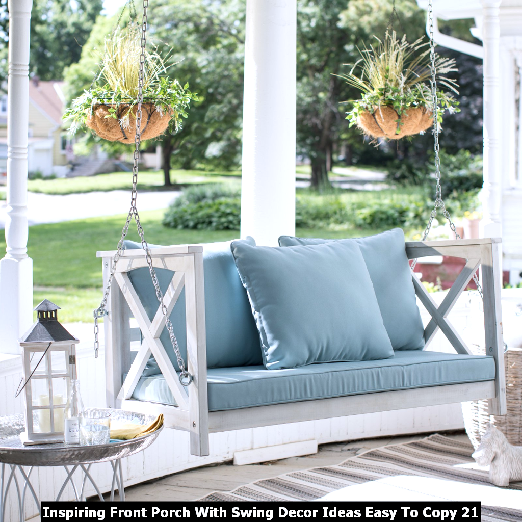 Inspiring Front Porch With Swing Decor Ideas Easy To Copy 21