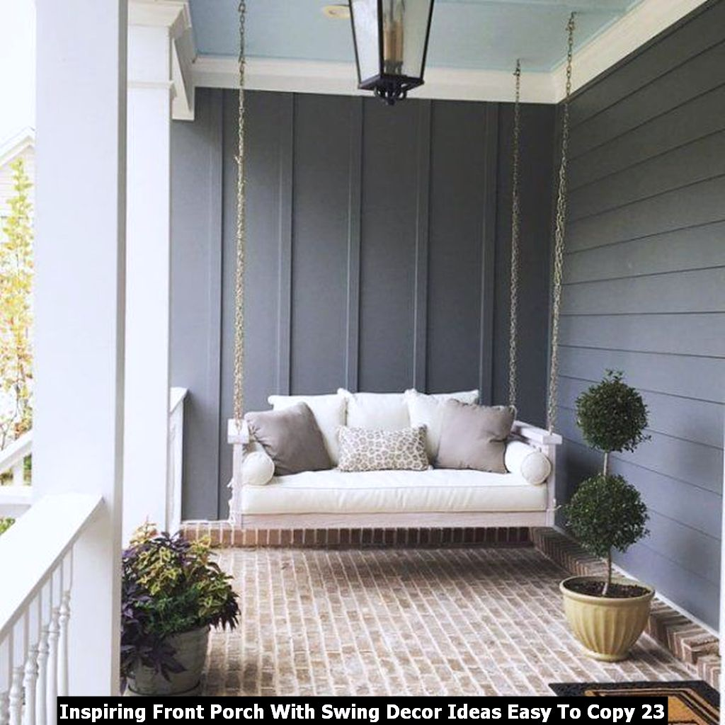 Inspiring Front Porch With Swing Decor Ideas Easy To Copy 23