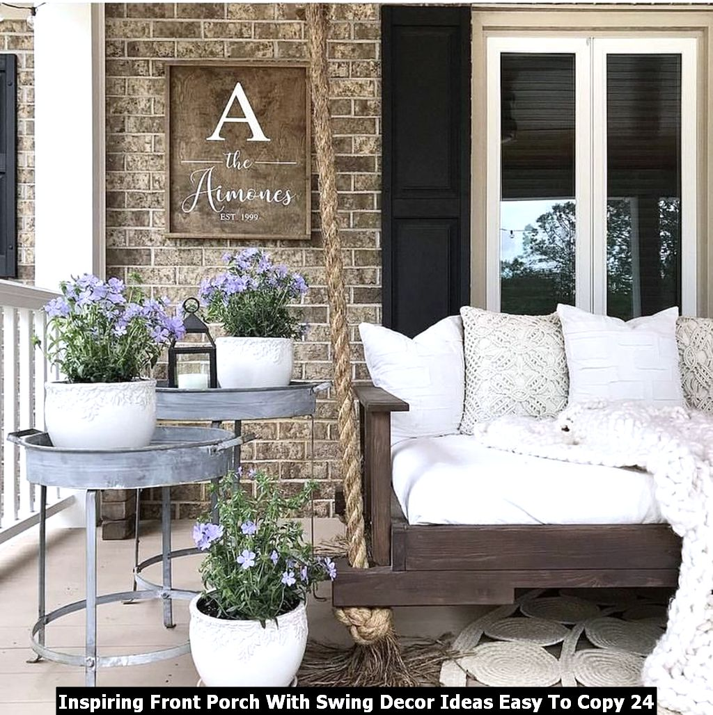 Inspiring Front Porch With Swing Decor Ideas Easy To Copy 24
