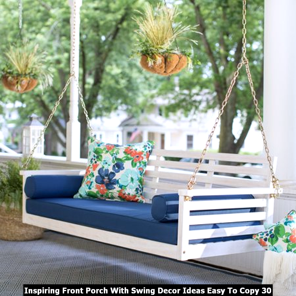 Inspiring Front Porch With Swing Decor Ideas Easy To Copy 30