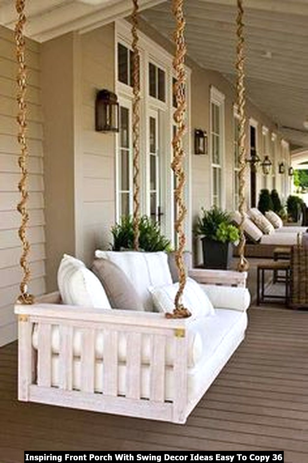 Inspiring Front Porch With Swing Decor Ideas Easy To Copy 36