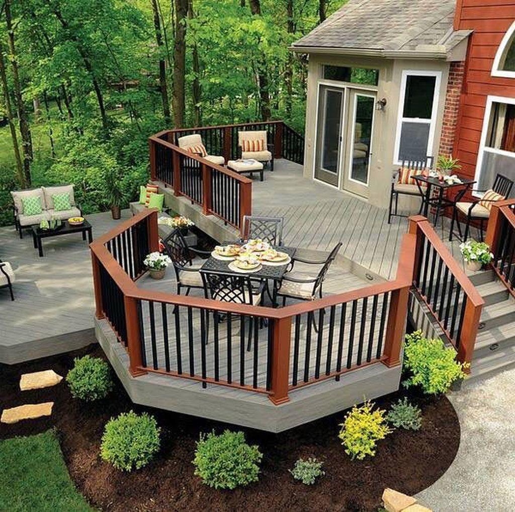 Inspiring Wooden Deck Patio Design Ideas For Your Outdoor Decor 03