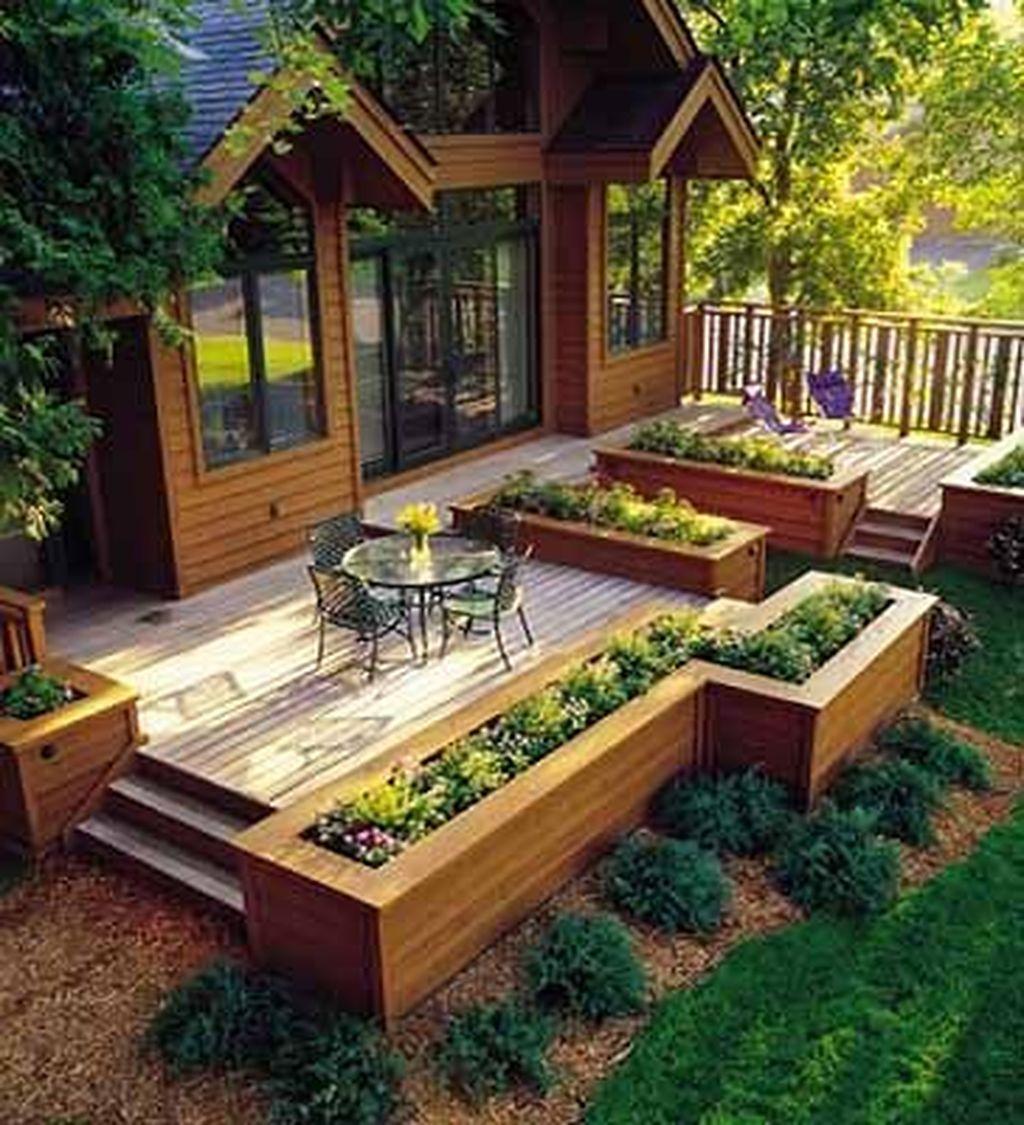 Inspiring Wooden Deck Patio Design Ideas For Your Outdoor Decor 07