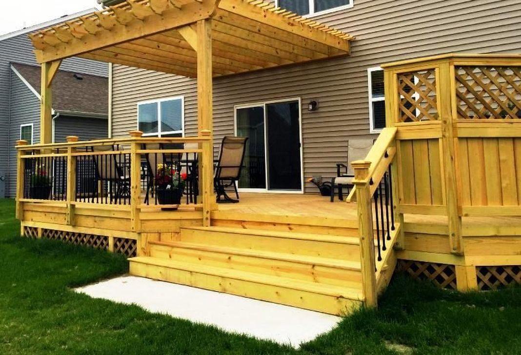 Inspiring Wooden Deck Patio Design Ideas For Your Outdoor Decor 11