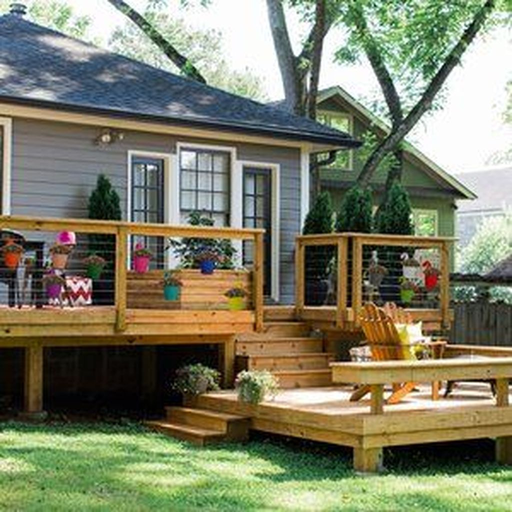Inspiring Wooden Deck Patio Design Ideas For Your Outdoor Decor 13