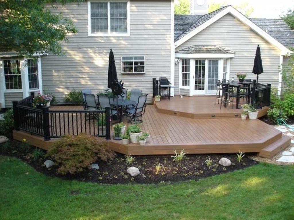 Inspiring Wooden Deck Patio Design Ideas For Your Outdoor Decor 15