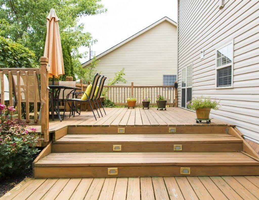 Inspiring Wooden Deck Patio Design Ideas For Your Outdoor Decor 21