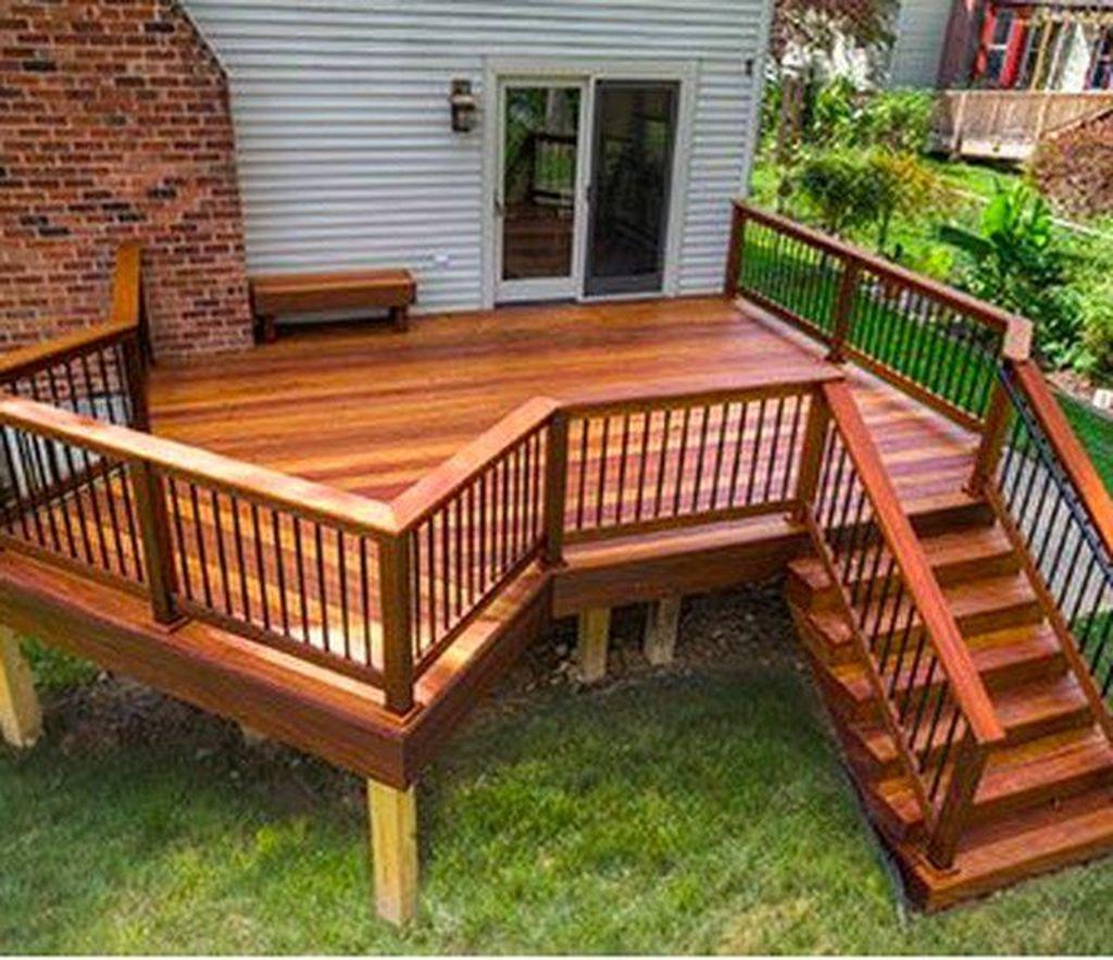 Inspiring Wooden Deck Patio Design Ideas For Your Outdoor Decor 30