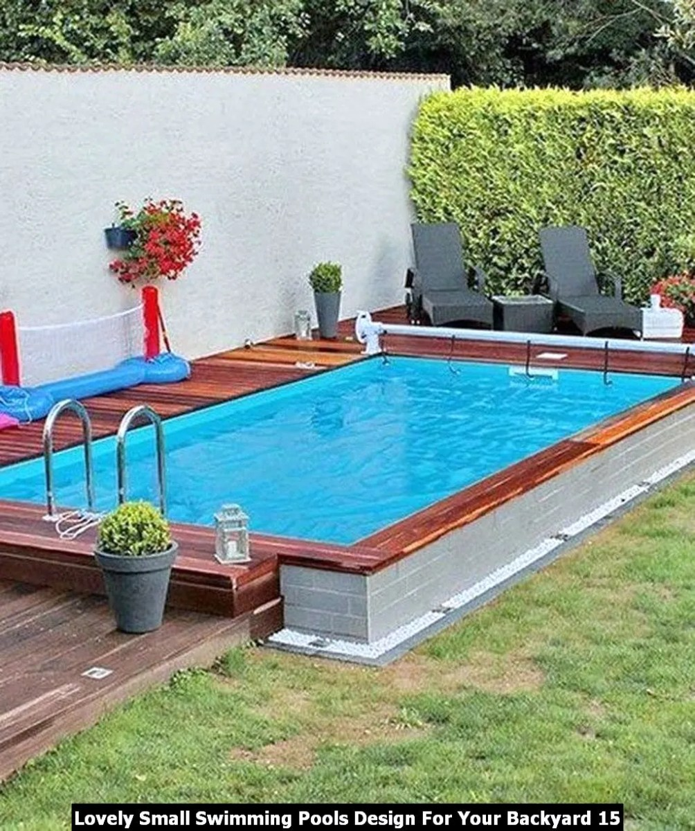 Lovely Small Swimming Pools Design For Your Backyard 15