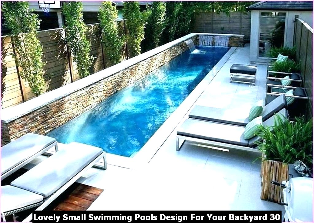 Lovely Small Swimming Pools Design For Your Backyard 30