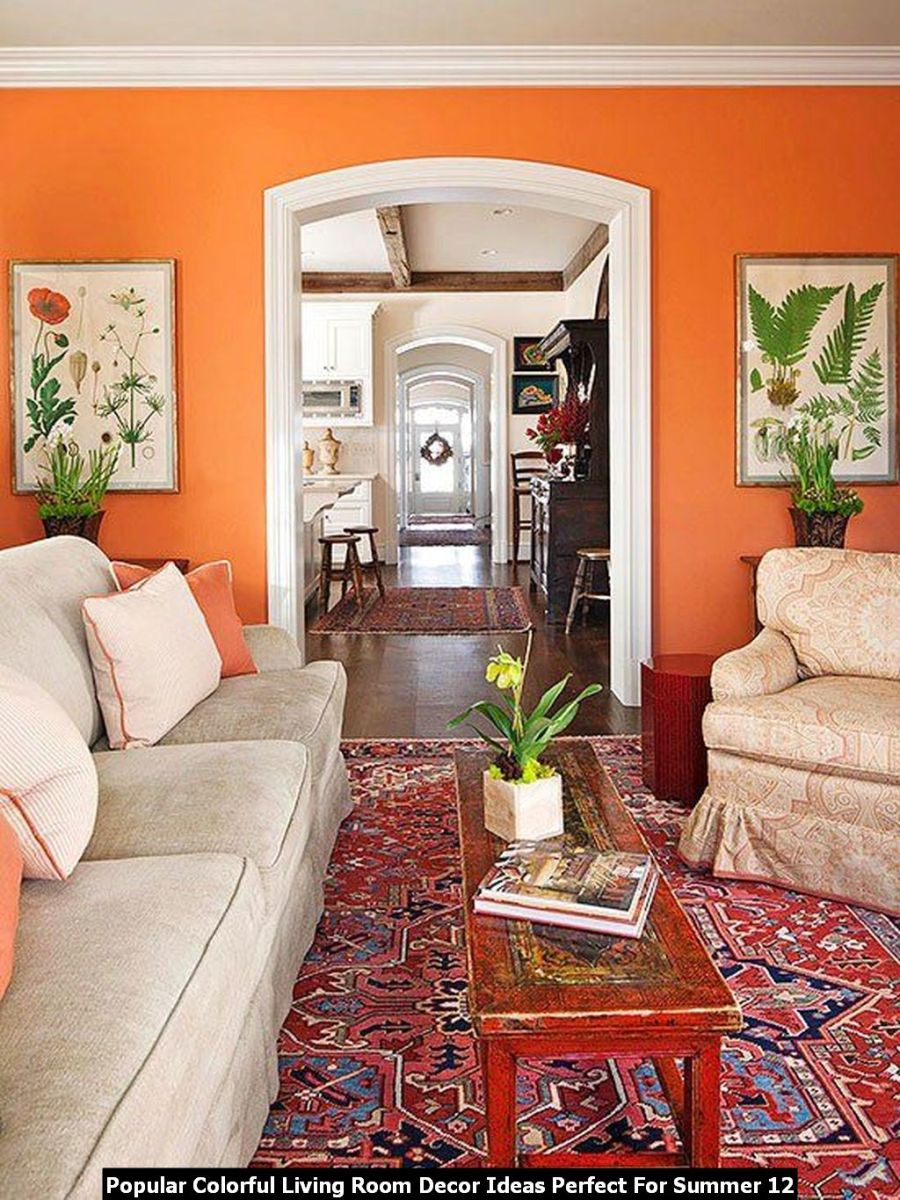 Popular Colorful Living Room Decor Ideas Perfect For Summer 12