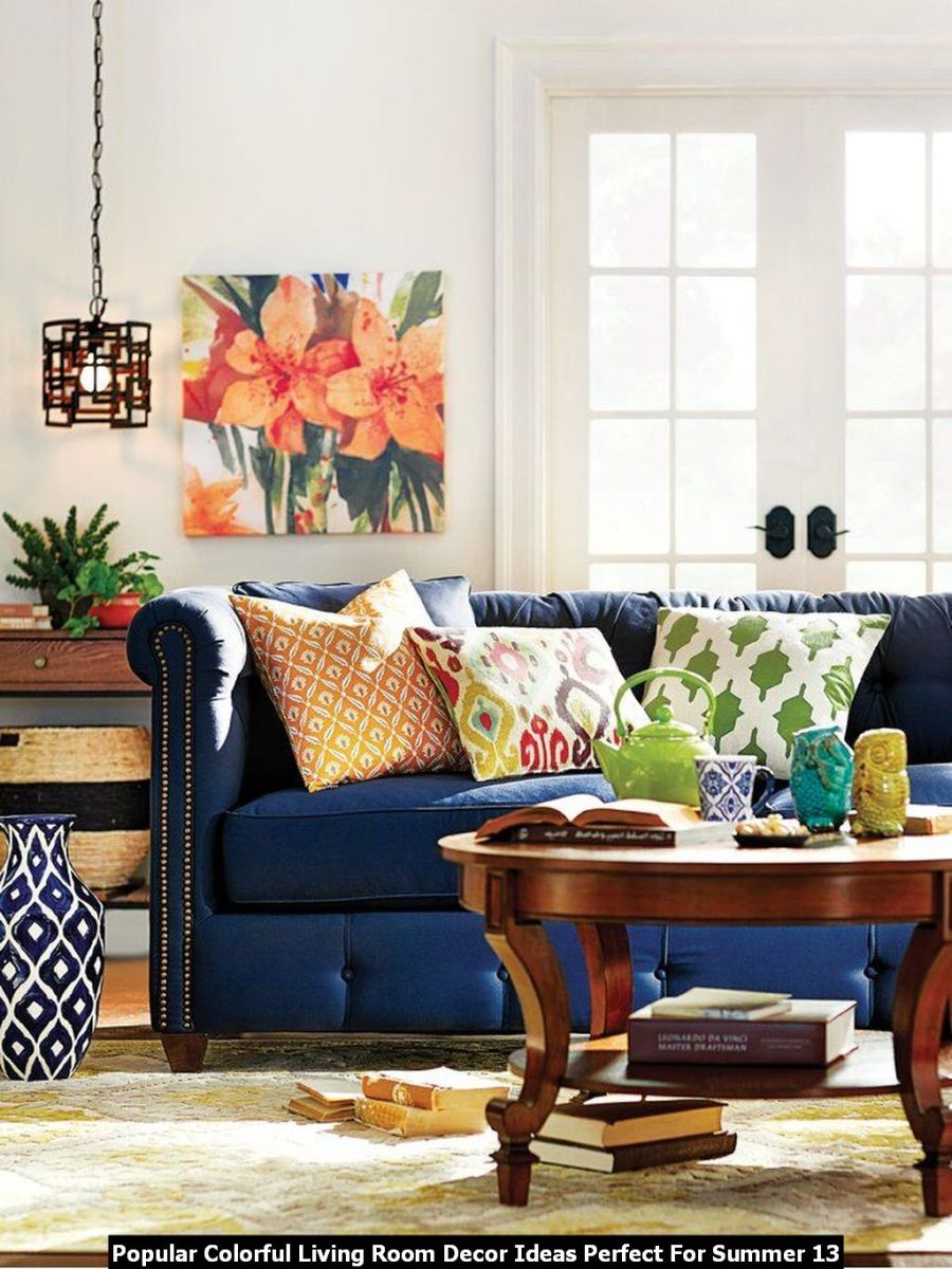 Popular Colorful Living Room Decor Ideas Perfect For Summer 13
