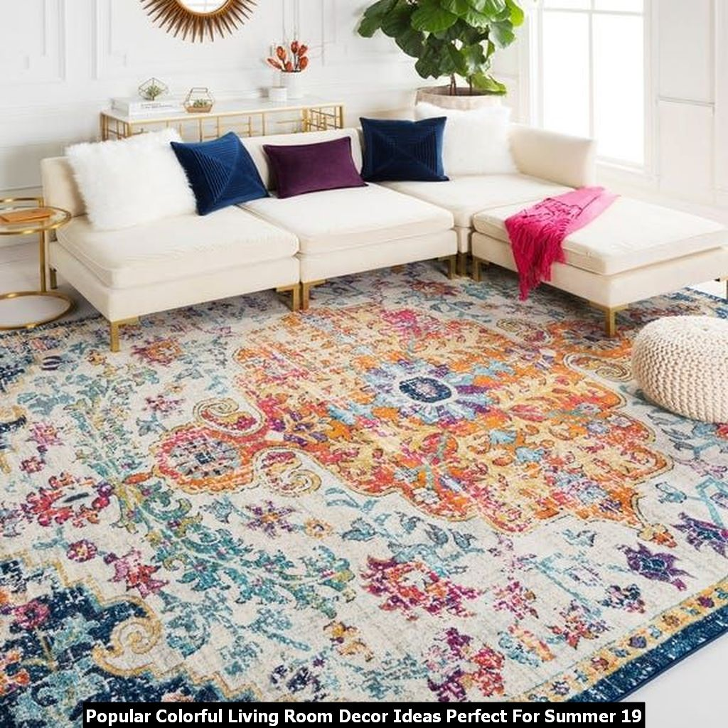 Popular Colorful Living Room Decor Ideas Perfect For Summer 19