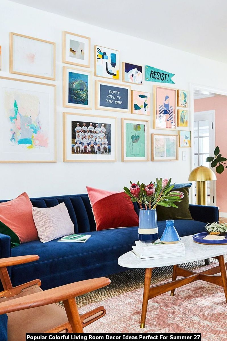Popular Colorful Living Room Decor Ideas Perfect For Summer 27