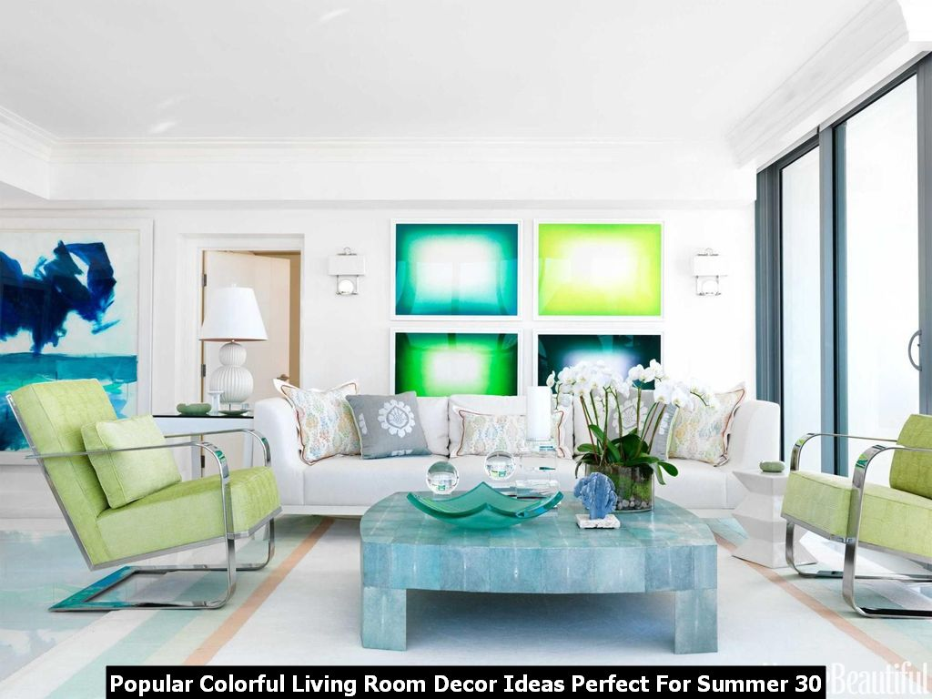 Popular Colorful Living Room Decor Ideas Perfect For Summer 30