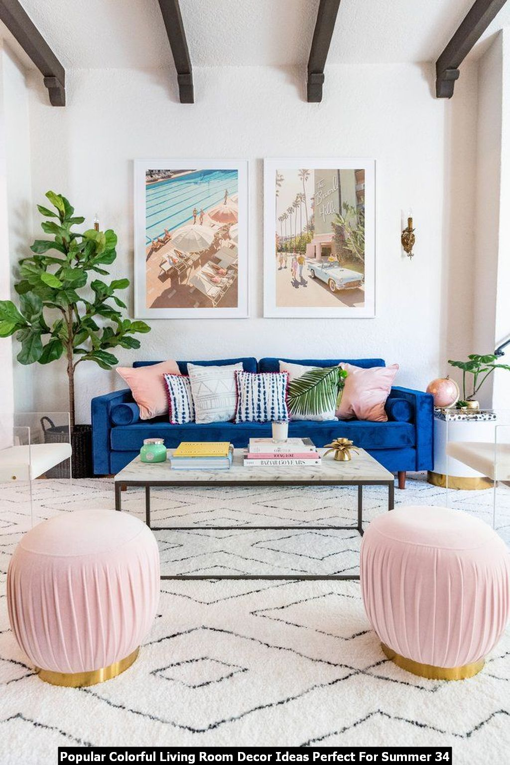 Popular Colorful Living Room Decor Ideas Perfect For Summer 34
