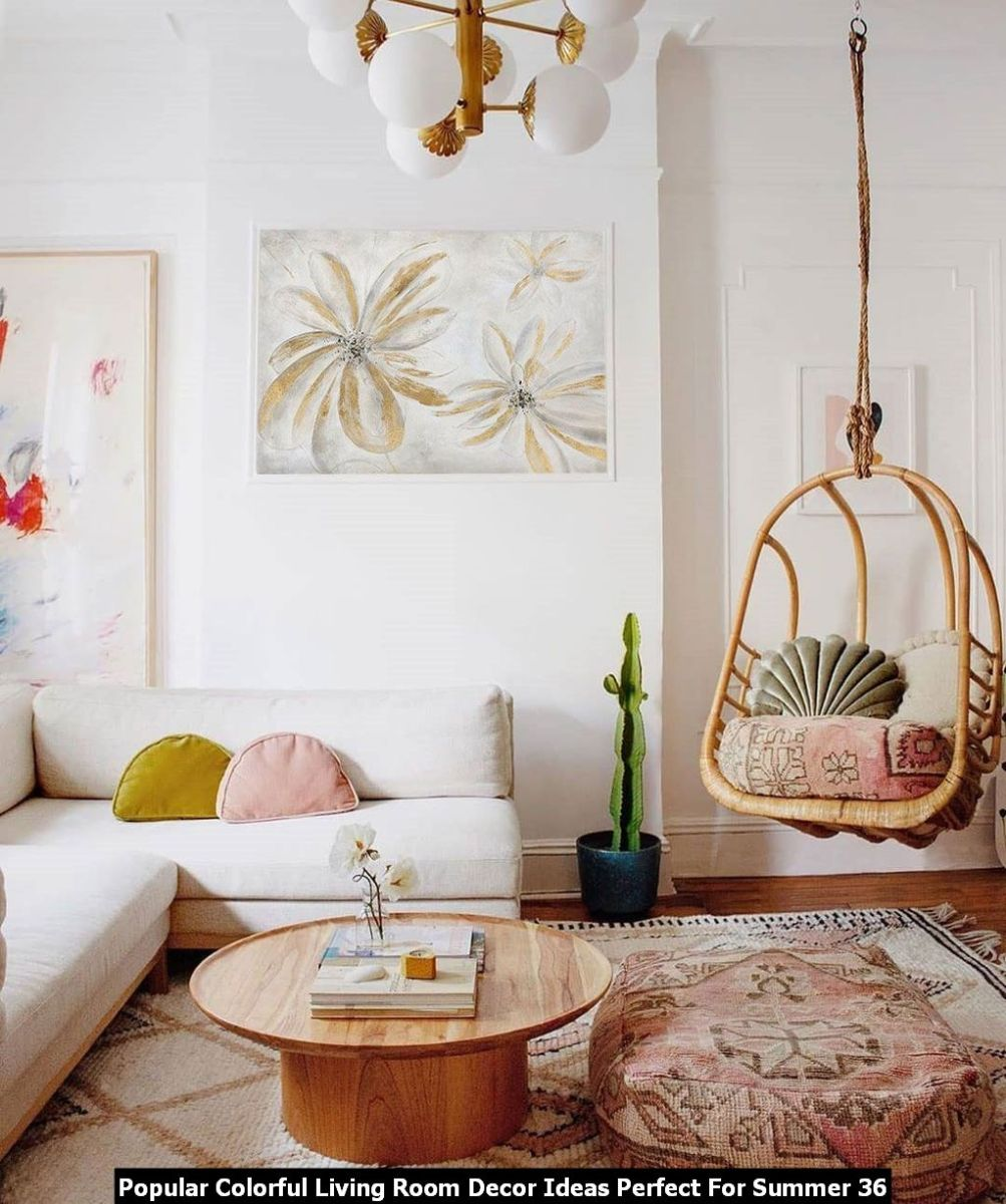 Popular Colorful Living Room Decor Ideas Perfect For Summer 36