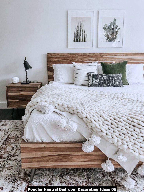 Popular Neutral Bedroom Decorating Ideas 06