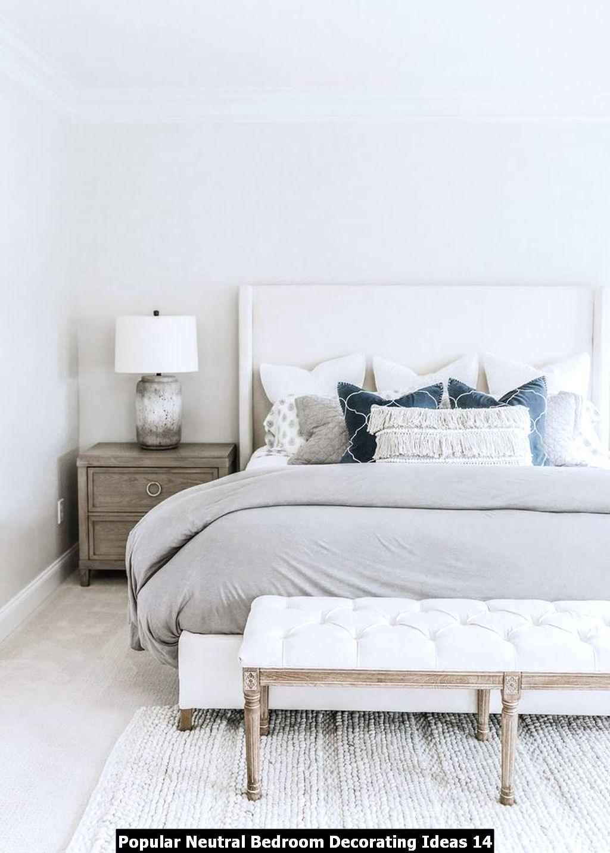 Popular Neutral Bedroom Decorating Ideas 14