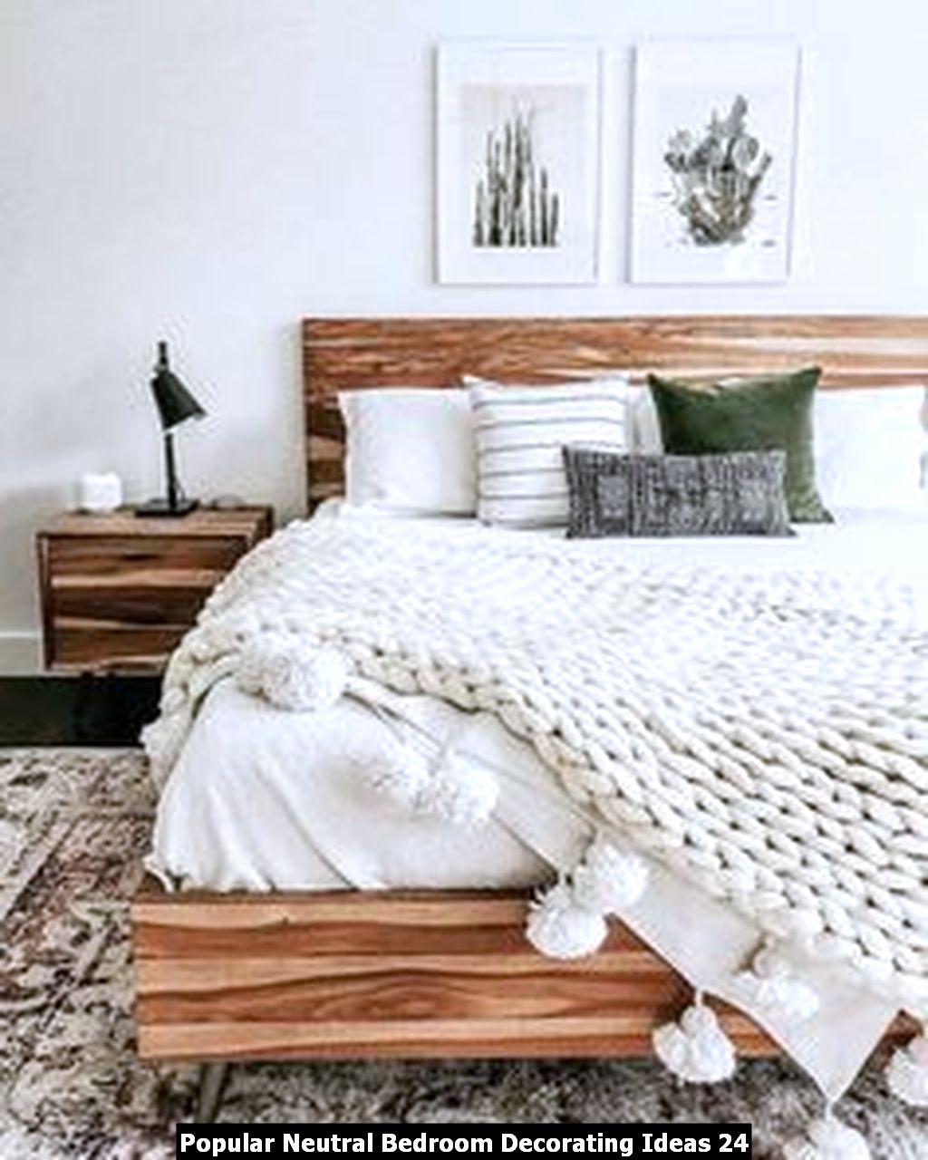 Popular Neutral Bedroom Decorating Ideas 24