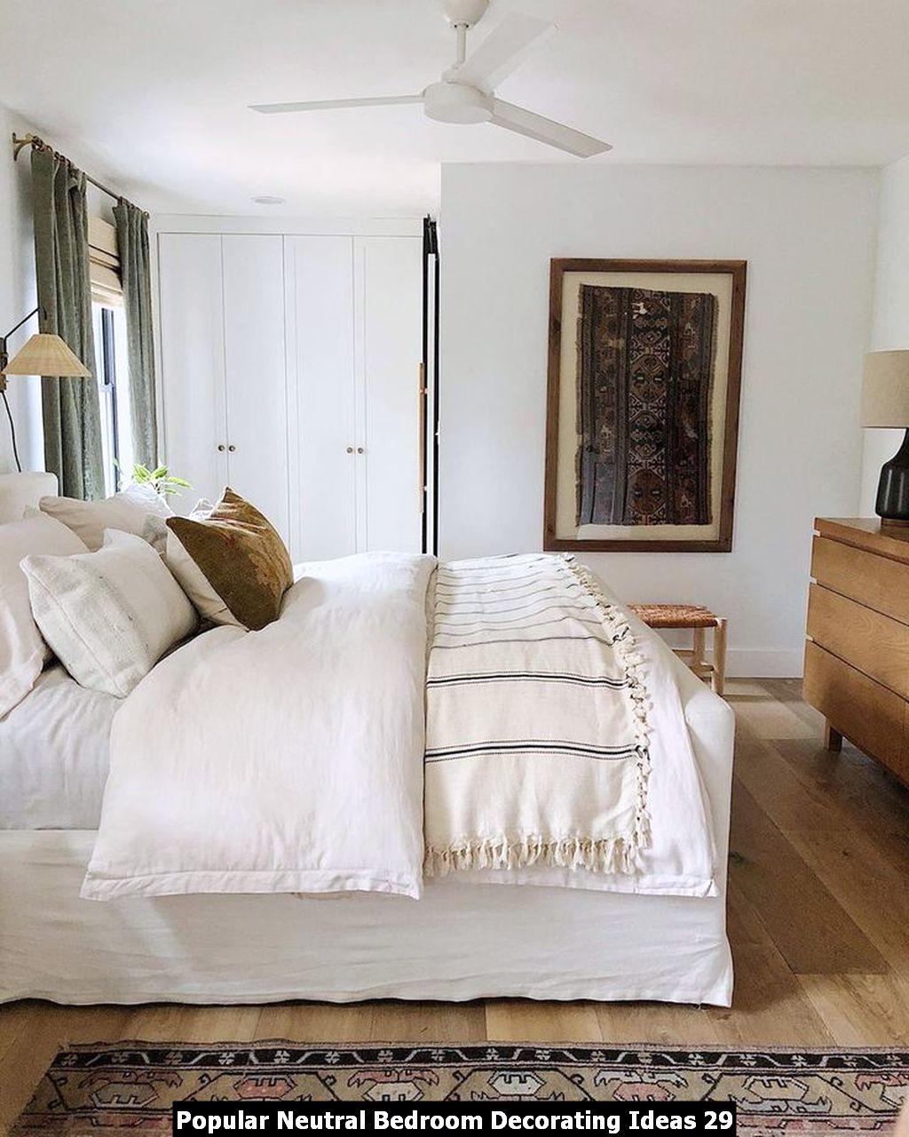 Popular Neutral Bedroom Decorating Ideas 29