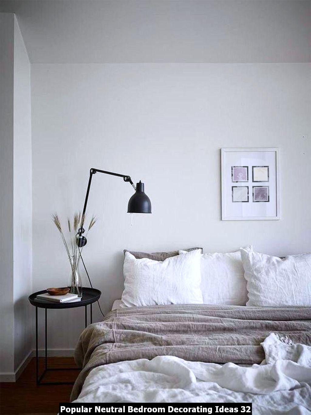 Popular Neutral Bedroom Decorating Ideas 32