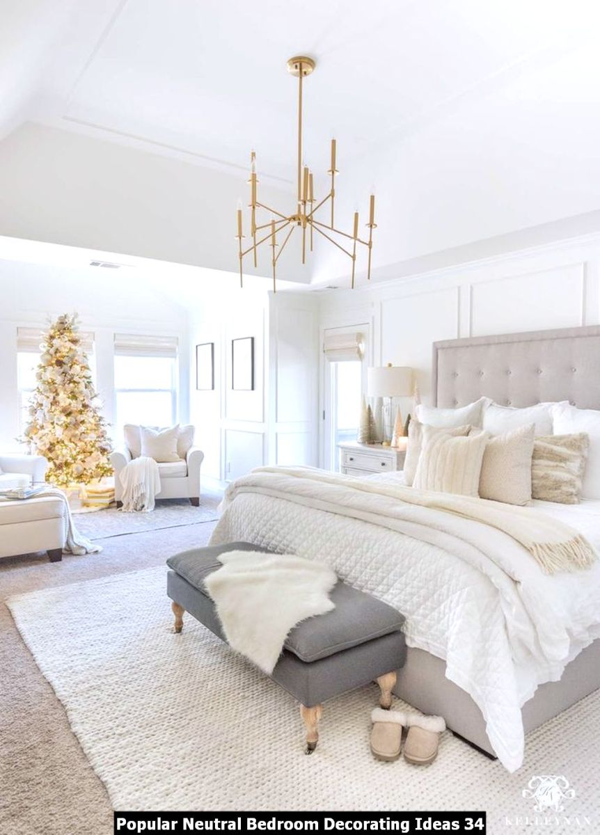 Popular Neutral Bedroom Decorating Ideas 34
