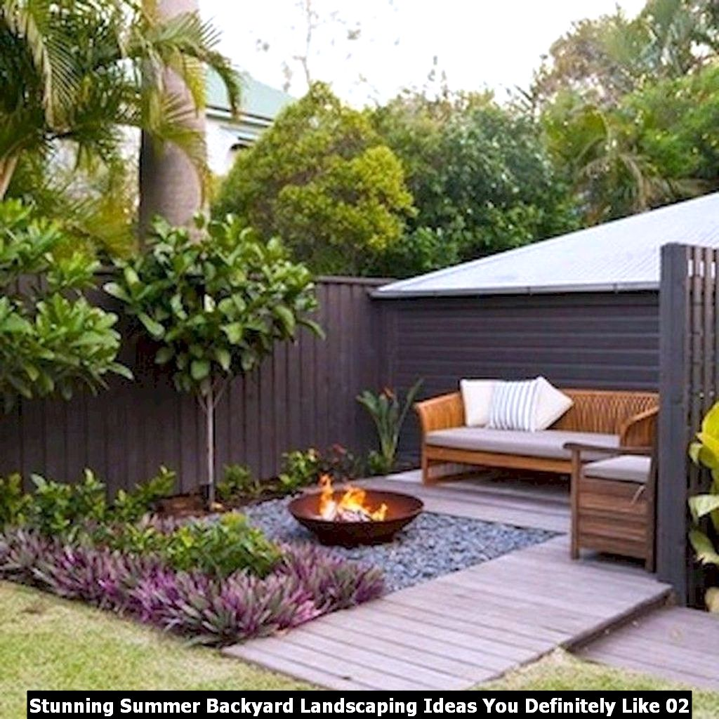 Stunning Summer Backyard Landscaping Ideas You Definitely Like 02