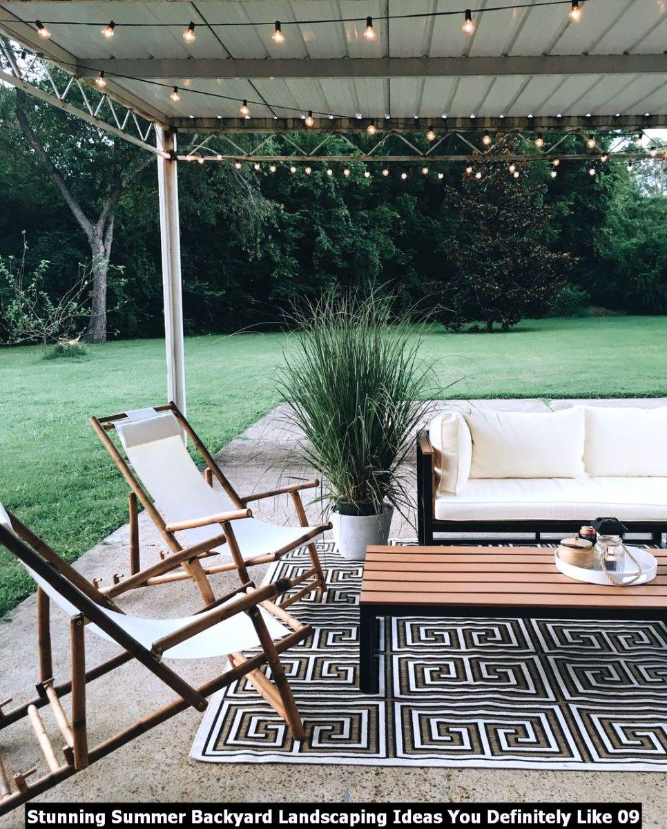 Stunning Summer Backyard Landscaping Ideas You Definitely Like 09
