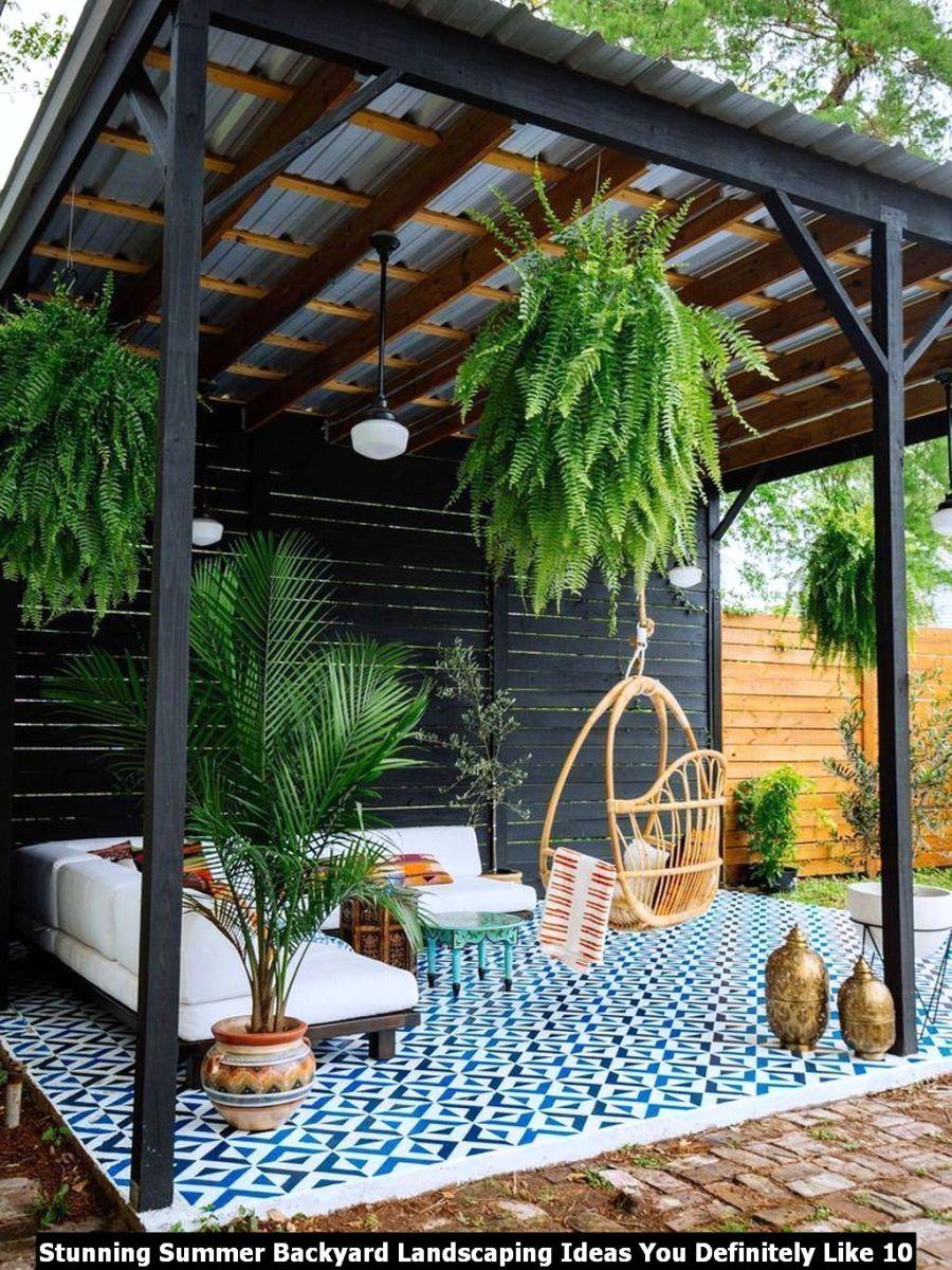 Stunning Summer Backyard Landscaping Ideas You Definitely Like 10