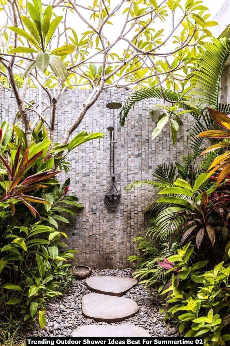 Trending Outdoor Shower Ideas Best For Summertime 02