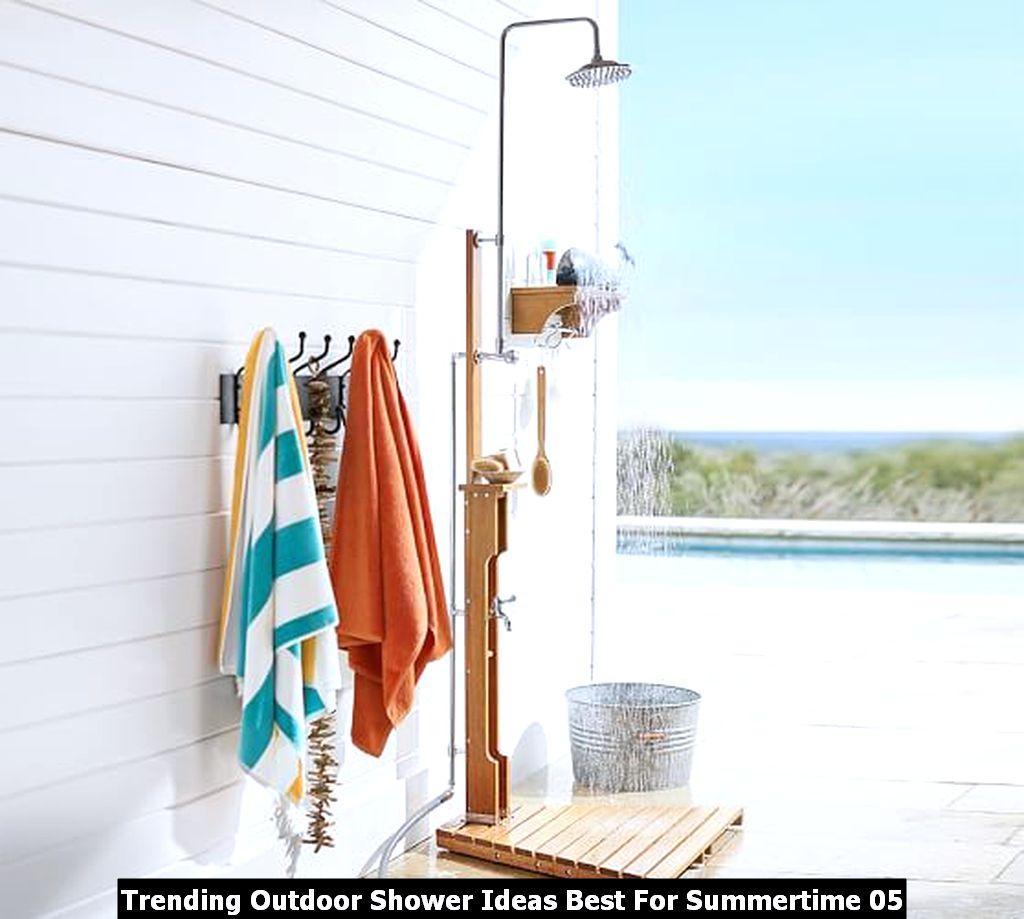 Trending Outdoor Shower Ideas Best For Summertime 05
