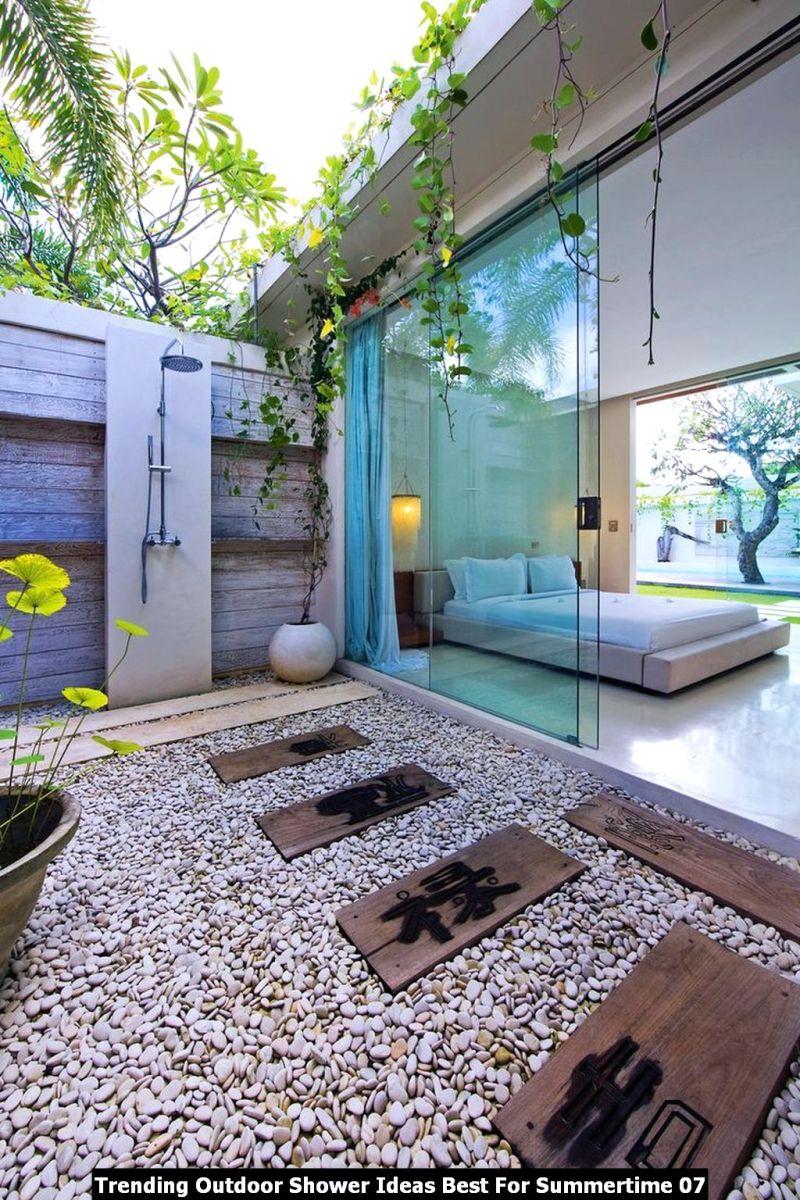 Trending Outdoor Shower Ideas Best For Summertime 07