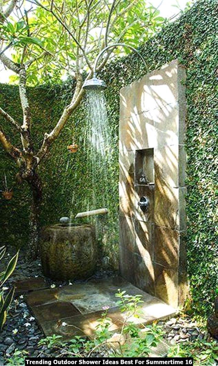Trending Outdoor Shower Ideas Best For Summertime 16
