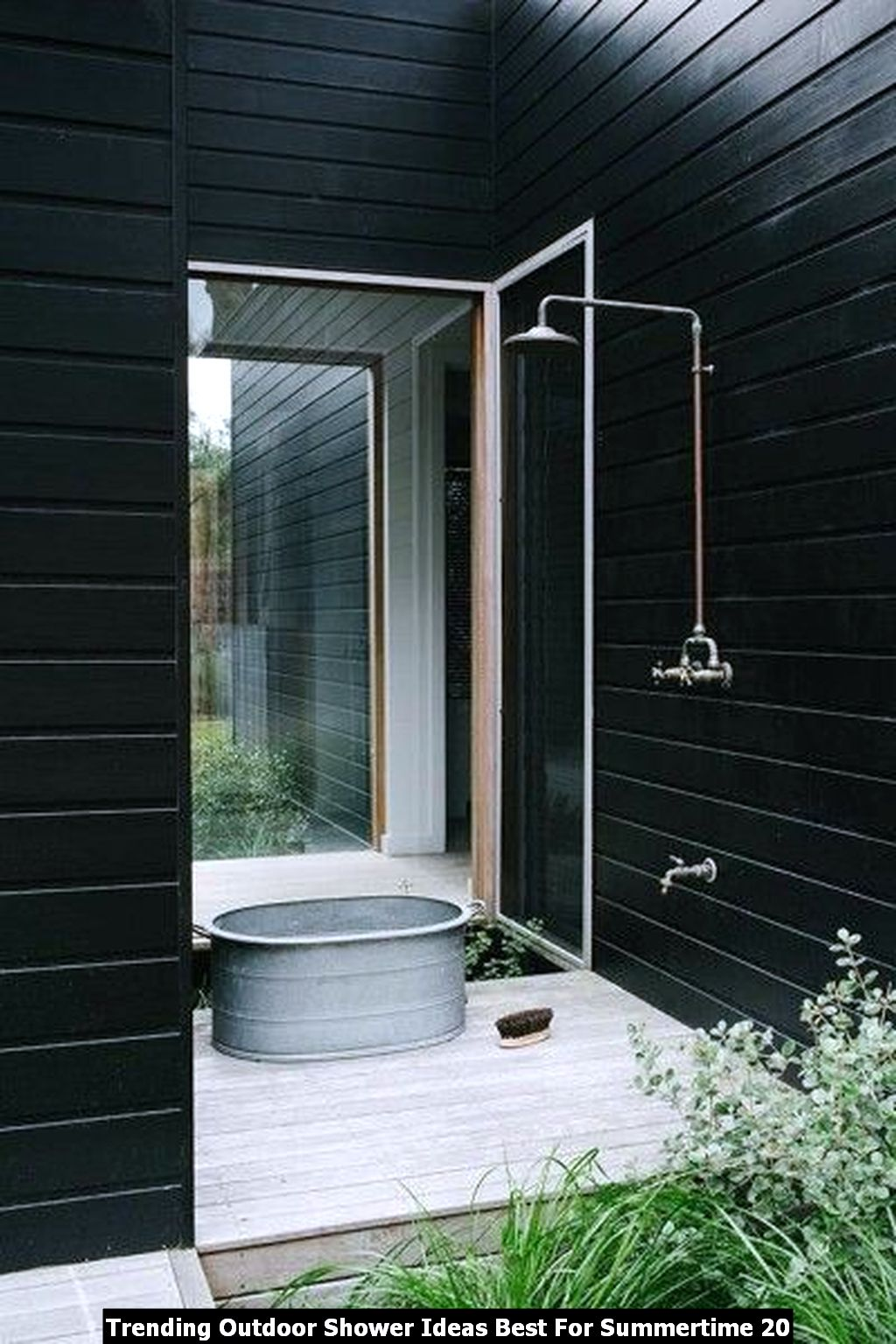 Trending Outdoor Shower Ideas Best For Summertime 20