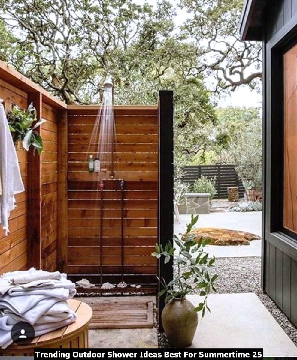 Trending Outdoor Shower Ideas Best For Summertime 25