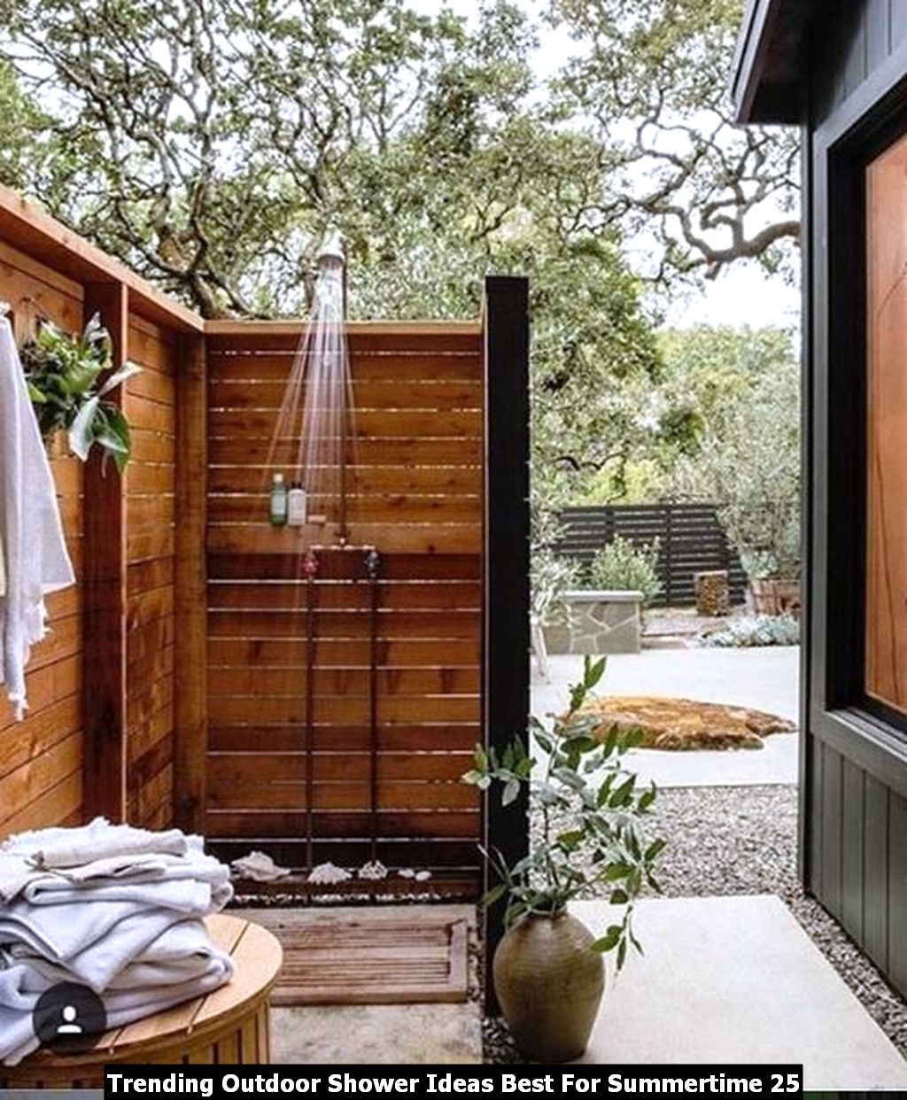 Trending Outdoor Shower Ideas Best For Summertime 25