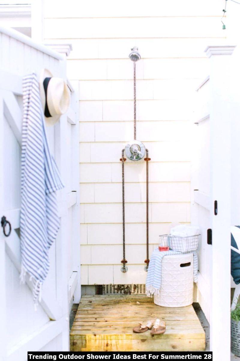 Trending Outdoor Shower Ideas Best For Summertime 28