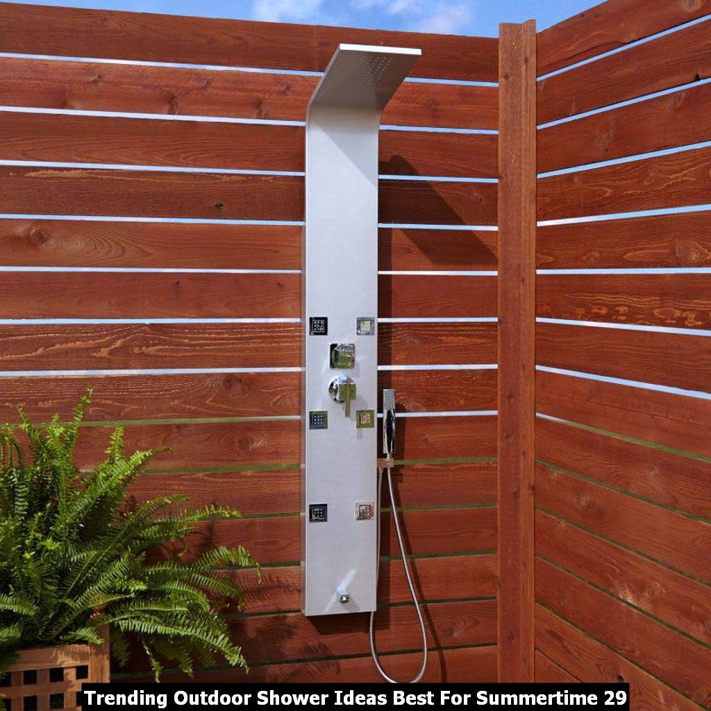Trending Outdoor Shower Ideas Best For Summertime 29