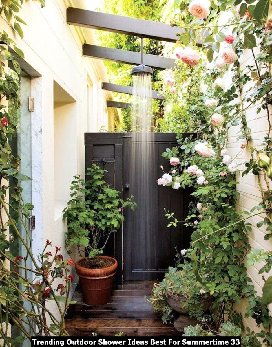 Trending Outdoor Shower Ideas Best For Summertime 33