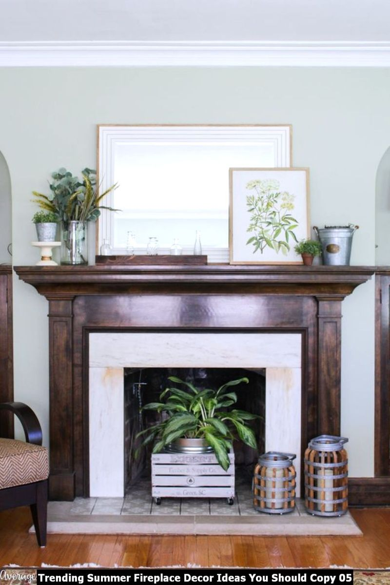 Trending Summer Fireplace Decor Ideas You Should Copy 05
