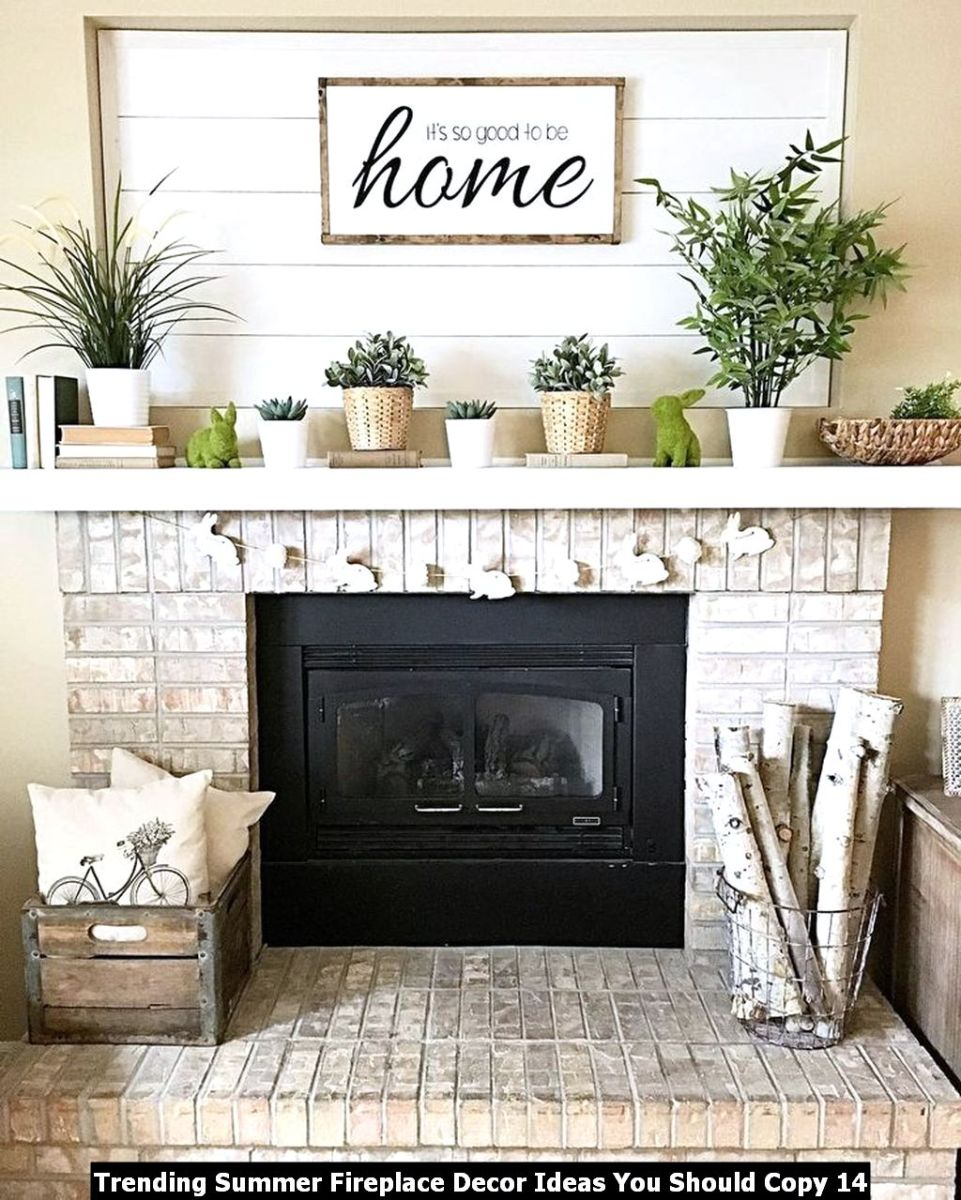 Trending Summer Fireplace Decor Ideas You Should Copy 14