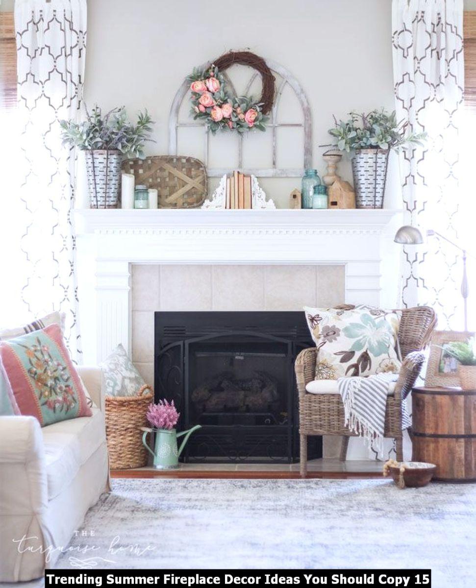 Trending Summer Fireplace Decor Ideas You Should Copy 15