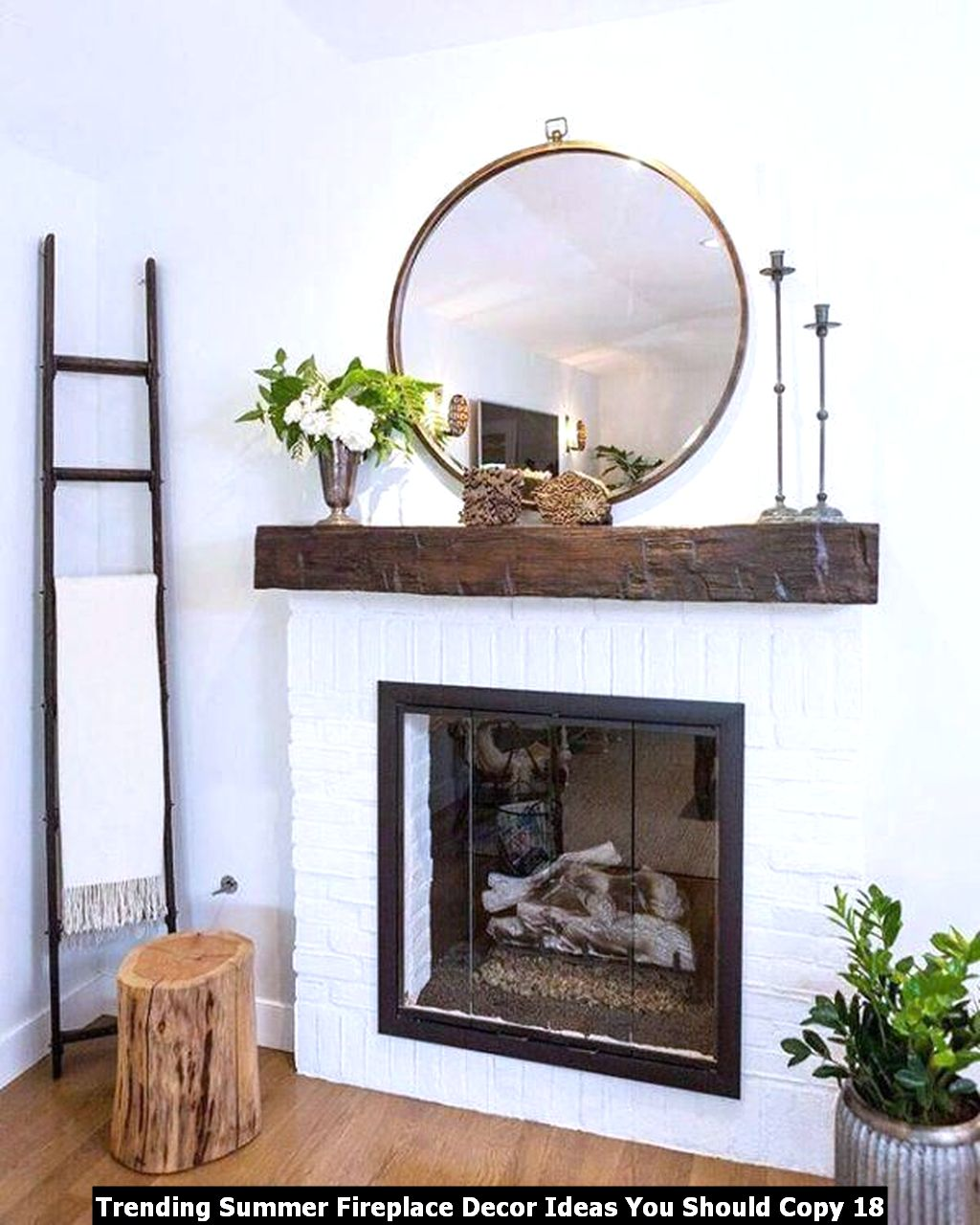 Trending Summer Fireplace Decor Ideas You Should Copy 18